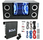 Pyramid BNPS122 12″1200W Car Audio Subwoofer + Box + 1100W Mono Amp +Wiring Kit