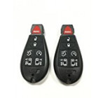 New Pair Of 7 Button Replacement For Dodge Grand Caravan Chrysler Town & Country Fobik Keyless Remote Iyz-C01c Duracell Battery Inside