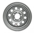15″ x 5″ Silver Modular Trailer Wheel (5-5″ bolt Circle)