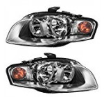 Driver and Passenger Halogen Headlights Headlamps Replacement for Audi 8E0941003AL 8E0941004AL Reviews
