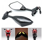 Alpha Rider Motorcycle Turn Signal LED Blinker Integrated Sports Racing Mirrors Rearview Side Mirror For Yamaha YZF R6 1999-2009 R6S 2006-2009 R1 1998-2009 Reviews