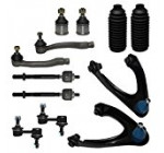 Detroit Axle – New Complete 12pc Front Suspension Kit Honda CR-V- 10-Year Warranty- Both (2) Front Upper Control Arm & Ball Joints, 2 Lower Ball Joints, All 4 Tie Rod, 2 Sway Bar, 2 Tie Rod Boots