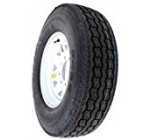 Provider 235/80/R16 LR E 8 lug White Spoke Trailer Tire / Wheel Assembly