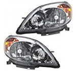 Driver and Passenger Headlights Headlamps Replacement for Toyota 81150-02220 81110-02210