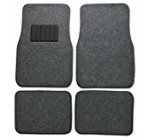 BDK Classic Carpet Floor Mats for Car & Auto – Universal Fit -Front & Rear with  Heelpad (Medium Gray)