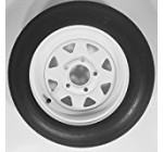 2-Pack Trailer Wheel & Tire #413 480-12 4.80-12 4.80×12″ LRC 5 Hole White Spoke