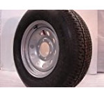 15″ Silver Mod Trailer Wheel 6 Lug with Radial ST225/75R15 Tire Mounted (6×5.5) bolt circle
