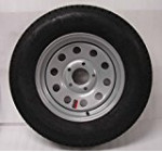15″ Silver Mod Trailer Wheel with Radial ST205/75R15 Tire Mounted (5×4.5) bolt circle Reviews