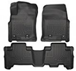 Husky Liners Front & 2nd Seat Floor Liners Fits 4-16 GX460, 13-16 4Runner