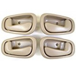 PT Auto Warehouse TO-2543E-QP – Inside Interior Inner Door Handle, Beige/Tan – Manual Lock, 2 Left, 2 Right
