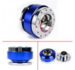 ANZIO Blue JDM Steering Wheel 6 Hole Quick Release Hub Adapter Snap Off Boss Kit