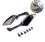 KATUR 2x Blade Style Motorcycle Carbon Custom Side Rear View Mirrors For Honda /Yamaha /Suzuki /Kawasaki