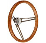 Grant 967-0 Classic Nostalgia Style Steering Wheel with Hardwood Grip and Brushed Stainless Spokes