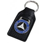Mercedes Leather and Enamel Key Ring Key Fob