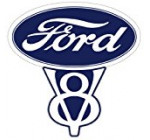 Vintage Ford V8 Decal 5.5″ Fast Free Shipping from the United States