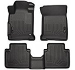 Husky Liners Front & 2nd Seat Floor Liners Fits 13-17 Accord Sedan