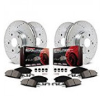 Power Stop K6084 Front and Rear Z23 Evolution Brake Kit with Drilled/Slotted Rotors and Ceramic Brake Pads Reviews