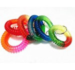 yueton Colorful Rainbow Gradual Change Colors Flexible Spiral Coil Wristband (Rainbow)