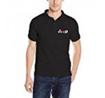 Jeep Car Pokeman Pokeball Logo Men's Short-Sleeve Pique Polo Shirts