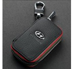 Amooca Car Smart Key Chain Leather Holder Cover Case Fob Remote For Hyundai