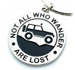 "Key Chain for Jeep Enthusiasts ""Not All Who Wander Are Lost"" Great Advice and Gift Idea For Any Jeep Owner! Built by Wrench & Bones for Jeep Wrangler Accessories Enthusiasts"