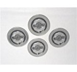 Set of 4 OEM Chrysler Wheel Center Caps Medallions, Silver 2-1/8 Inch – 68042186AA