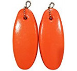 2 Pack JUMBO Vinyl Coated ORANGE Floating Keychain key floats -Made in the USA- (Orange) Reviews
