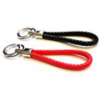 Mehr 2X Red and Black Woven Key Chains – Strap Keychains – Simple, Useful Key Chain