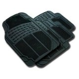 Zone Tech Set of 4-Piece Car Vehicle Floor Mat – Universal Fit,All-Weather Rubber Material, Black Color