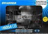 Sylvania H6054 CB Cool Blue Rectangular Halogen Headlight Bulb (Low/High Beam), (Pack of 1)