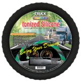 New Silicone Semi-truck Steering Wheel Cover with Negative Ion Fits 16″ 17″ 18″ 19″ Steering