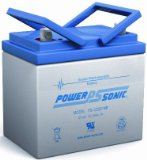 Powersonic PS-12350NB – 12 Volt/35 Amp Hour Sealed Lead Acid Battery with Nut-Bolt Connector