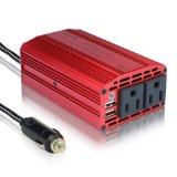 BESTEK Dual 110V AC outlets and Dual USB 3.1A 300w power inverter car dc 12v to 110v ac inverter dc adapter laptop charger notebook adapter dc charger ac adapter usb charger MRI3011BU Reviews