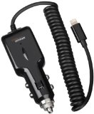 AmazonBasics Lightning Car Charger for iPhone, iPad and iPod (2.1 Amp Output) – Apple certified
