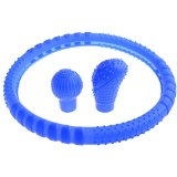 Neewer® Automotive Accessories Silicone Flexible Durable Steering Wheel Cover + 2x Gear Stick Cover Blue Reviews