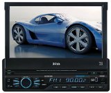 Boss Audio BV9967B Bluetooth Enabled, In-Dash, Single-DIN, DVD/MP3/CD AM/FM Receiver With Motorized 7″ Widescreen, Touchscreen, Digital, TFT Monitor