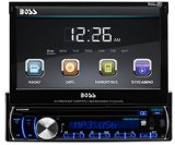 BOSS Audio BV9986BI In Dash, Single Din, DVD/CD/USB/SD/MP4/MP3 Compatible AM/FM Receiver, 7 inch Motorized / Flip Out Touchscreen Panel, Detachable Faceplate, Bluetooth Audio Streaming, Bluetooth Hands free Calling and Remote Control
