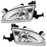 Driver and Passenger Headlights Headlamps Replacement for Toyota 81150-02050 81110-02060