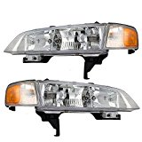 Driver and Passenger Headlights Headlamps Replacement for Honda 33150-SV4-A02 33100-SV4-A02
