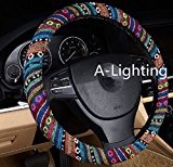 A-Lighting Ethnic Style Coarse Flax Cloth Automotive Steering Wheel Cover Anti Slip and Sweat Absorption Auto Car Wrap Cover – A Reviews