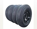 13″ Trailer Wheel & Tire with Bias ST175/80D13 Tire Mounted (5×4.5 bolt circle) Black Spoke, Set of 4 Reviews