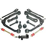PartsW 13 Piece Suspension Kit For Cadillac Chevrolet GMC Upper Control Arms and Ball Joints Assembly Sway Bars & Idler Arms Inner & Outer Tie Rod Ends Lower Ball Joints, Pitman Arm with 4 Grooves