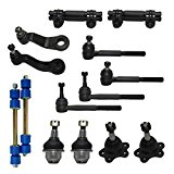 New Complete 14-Piece Front Suspension Kit GMC Trucks 4x4 10-Year Warranty- All (4) Front Ball Joints, 4 Tie Rods, 2 Sway Bar Link, 2 Adjustment Sleeve, 2 Pitman Arm & Idler Arm…