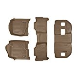 MAXFLOORMAT Floor Mats for Chevrolet Suburban / GMC Yukon XL / Denali XL (2007-2014) (3 Row Set) (Tan)