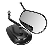 Iglobalbuy 8mm Thread Teardrop Rearview Side Mirrors for Harley Davidson Harley Road King Fatboy Touring XL 883 Softail XL FLHTC (Black)