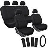 Oxgord 17-Piece Leatherette Seat Cover Set for Honda Accord, Black