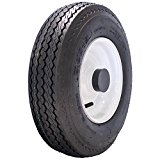 MARASTAR 4.80-8 LRB Bias Trailer Tire Mounted on White Solid Wheel with 1″ Bore