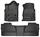Husky Liners Front & 2nd Seat Floor Liners Fits 14-17 Silverado/Sierra Crew Cab