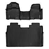 MAXFLOORMAT Floor Mats for Ford F-150 SuperCrew With Front Bench Seats (2015-2017) Complete Set (Black)