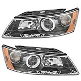Driver and Passenger Headlights Headlamps Replacement for Hyundai 92101-0A000 92102-0A000